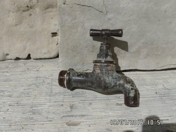 Antique Brass Tap Water Faucet Brass Spigot Water Spigot Brass Tap From Europeanbygones On Etsy