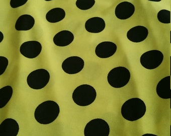 3 yard yellow Polka Dots Jersey for dress/blouse/skirt/ scarf and more