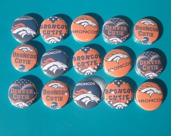 Denver Broncos Buttons Set of 15