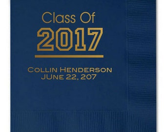 100 pcs Graduation Year Personalized Napkins