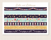 Happy Glamper Washi Planner Stickers - Matte or Glossy