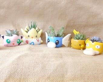 Pokemon clay pots - Succulent plant pots 2