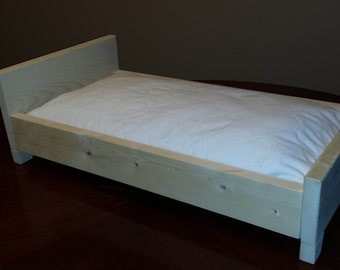 """Doll Bed for American Girl Doll or any 18"""" Doll or Toy"""