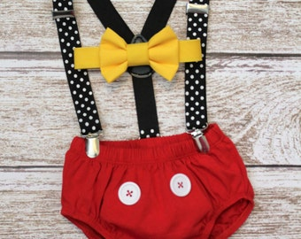 Mickey Mouse Birthday Outfit, Mickey Mouse Cake Smash, Mickey Mouse Outfit boys, PLEASE READ LISTING