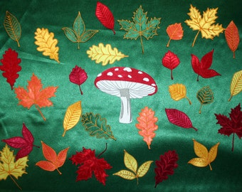 Autumn leaves, double-sided embroidery, machine embroidery designs, instant download