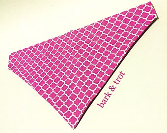 Pink Pattern Over Collar Dog Bandana