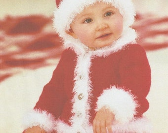 """Cute Christmas Little Santa Baby Outfit 16"""" - 22"""" and 0 - 2 years."""