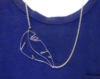 Silver Leaf Wire Necklace