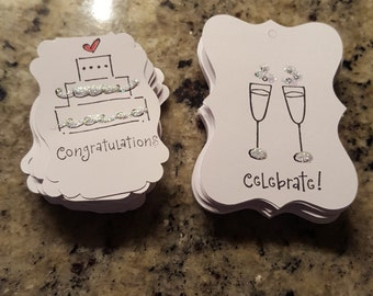 Set of 24 wedding table confetti!! Scatter them on your tables.. festive with glitter