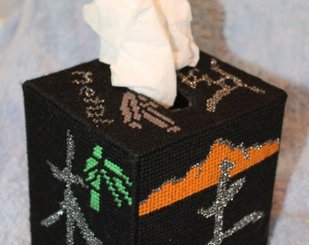 Tapestry 5 Elements Tissue Box - OOAK Unique Handmade