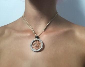 White Dreamcatcher Necklace/Choker