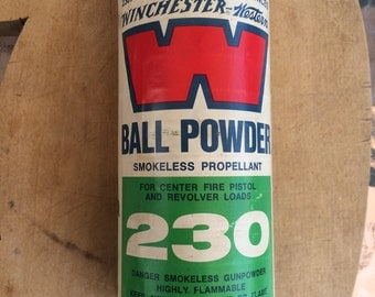 Winchester Western 230 Cone Top Powder Tin Can Nice
