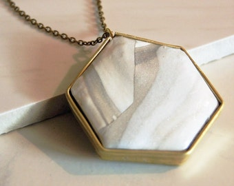 "The ""Katrina"" Large Heptagon Pendant"