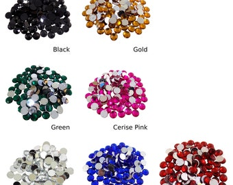 15mm Round Acrylic Jewels Sew/Glue On *7 Colours*
