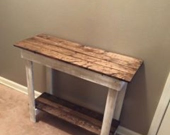 Brand new rustic entry way table