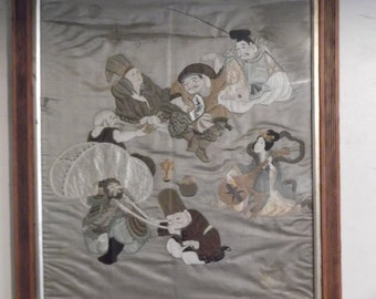 Antique Chinese silk tapestry