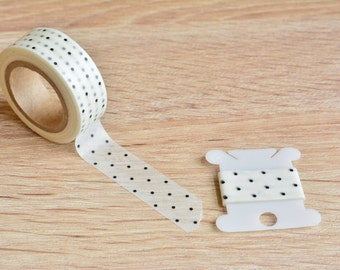 Navy Blue Polka Dot Washi Tape