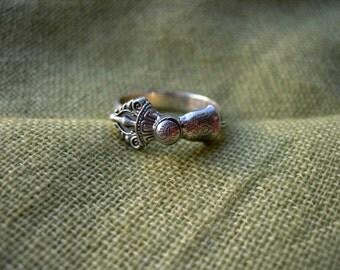 Vajrayana Handmade Ring Bell. Tantric Bell. Tibetan Buddhism ring. Tantra. Tibet. Nepal. Bhutan. Buddhist. Buddha. Dzogchen. Chod. Buddhism
