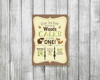 Woodland Animal Invitiation