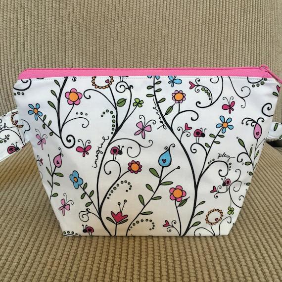 Zippered Knitting Bag : Small zippered knitting project bag