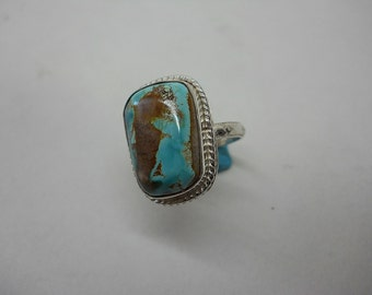 Sterling Silver And Pilot Mountain Ribbon Turquoise Together