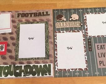 Football 2 page scrapbook layout