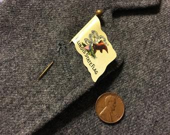 Vintage Illinois State Flag Stick pin