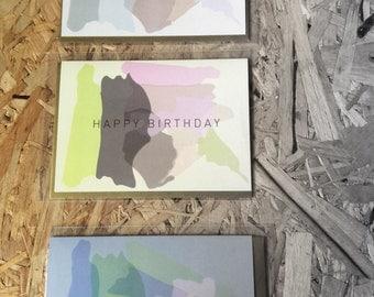 Set of 3 happy birthday cards
