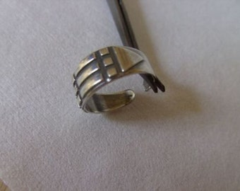Atlantis ring,Adjustable,Talisman,Charm,gift,sSterling silver,Hand made