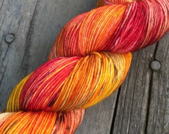 SALE Autumn Leaves *Sheep Feet* Hand-Dyed 4-Ply Merino/Nylon Sock Yarn