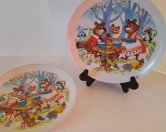 3 Little Bears children plates