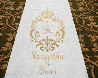 Royal Crest Monogram - Wedding Aisle Runner