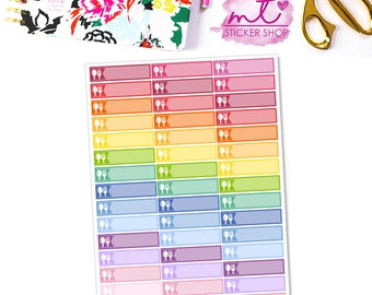 Meal Little Things/Labels    Vertical    44 Planner Stickers    Erin Condren Life Planner