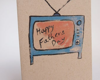 Greeting Card- Happy Fathers Day TV