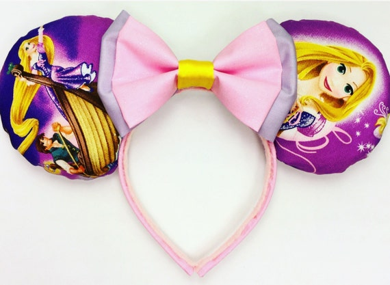 Rapunzel Minnie Mouse Ears Inspired Tangled Mouse Ears