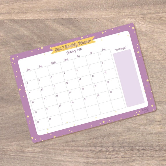 Desk Calendar Planner : Personalised monthly desk calendar planner by distinktcards