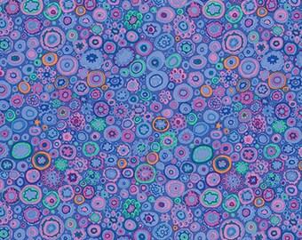 Kaffe Fassett Classics Paperweight in Blue - pink, purple, spots, circles, quilt, bubbles, cotton, fabric, by the, yard, metre, PWGP020BLUEX