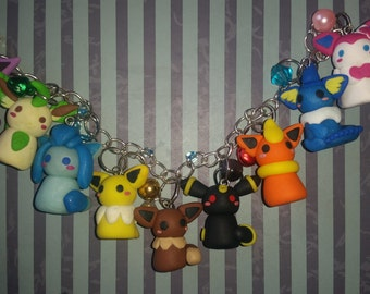 Eevee bracelet with all its evolutions (pokemon)