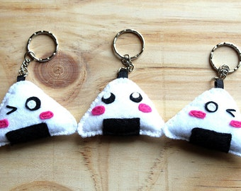 Kawaii onigiri key chain