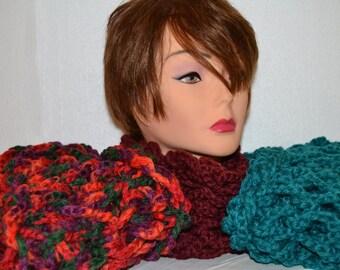 Wool neck warmer scarf