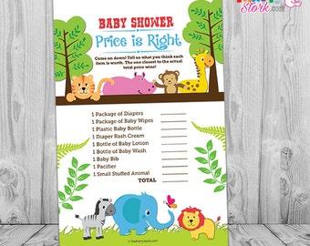 safari baby shower game price is right safari baby shower game printable jungle themed