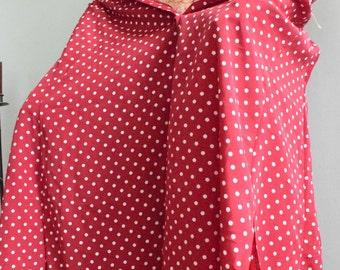Red polka dot skirt large
