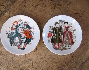 Vintage Japanese Small Plates, Japanese Small Porcelain Plates, Vintage Handcrafted Small Plates, Decorative Plates, Home Decor