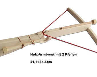 Wooden crossbow nature with 2 arrows for children / Handmade / Wooden Toys / Knights /