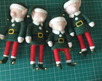 OOAK Needle Felted Elf Christmas Decoration