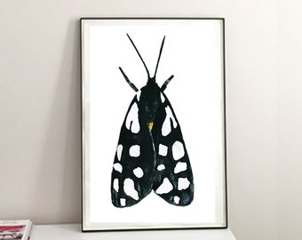 Tiger Moth Print. Insect Art Print. Ideal for - Moth Watercolor Art, Nature Poster, Insect Wall Art. Insect Home Decor Art.