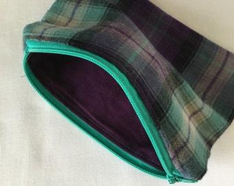 Purple and Blue Zipper Bag