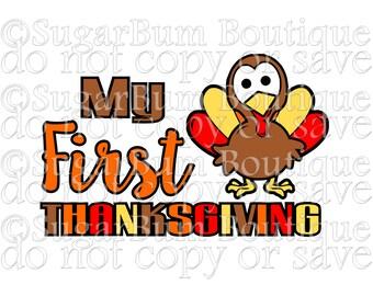 My First Thanksgiving svg