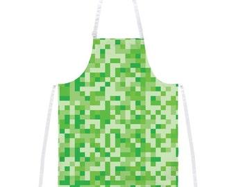 Green Pixels Apron