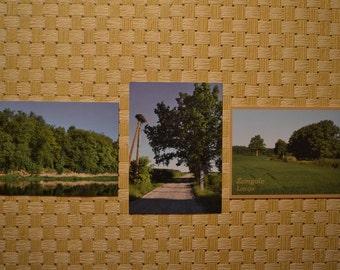 Latvian postcards set Zemgale region